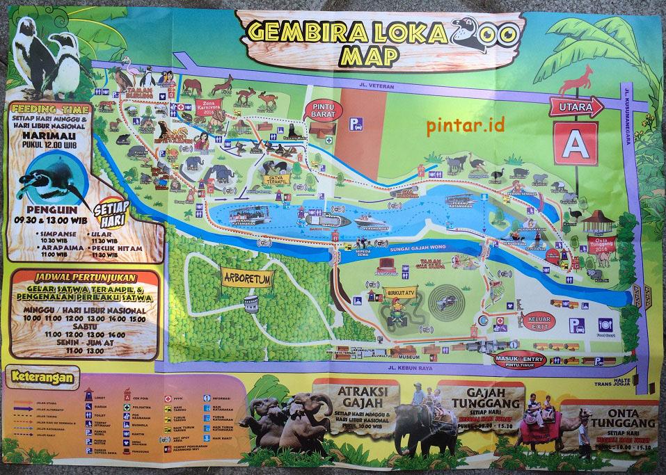 Peta Kebun Binatang Gembira Loka